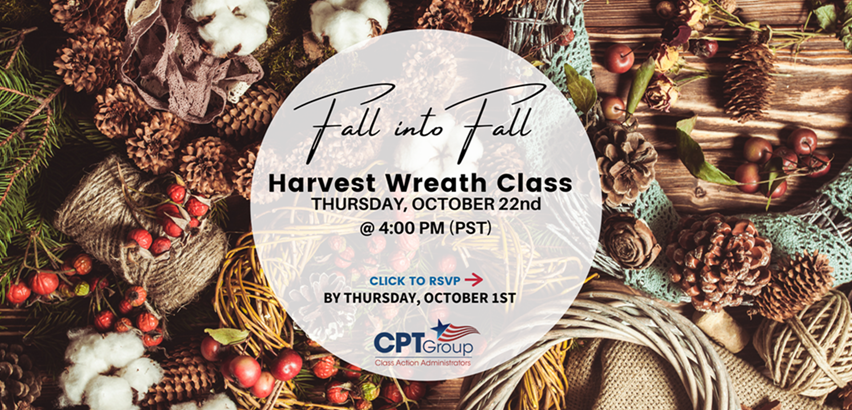 Fall into Fall Harvest Wreath Class Thursday October 22nd at 4pm