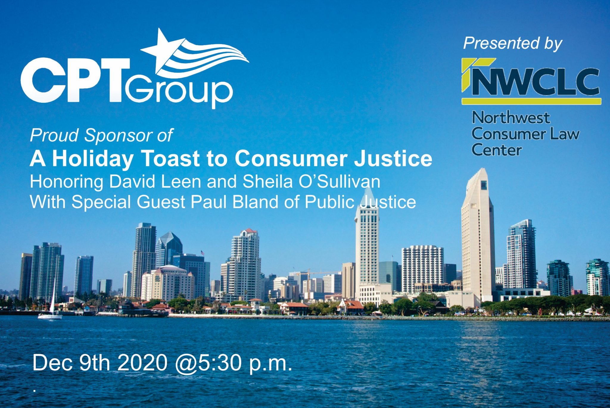 CPT Group Proud Sponsor of A Holiday Toast to Consumer Justice Presented by NWCLC
