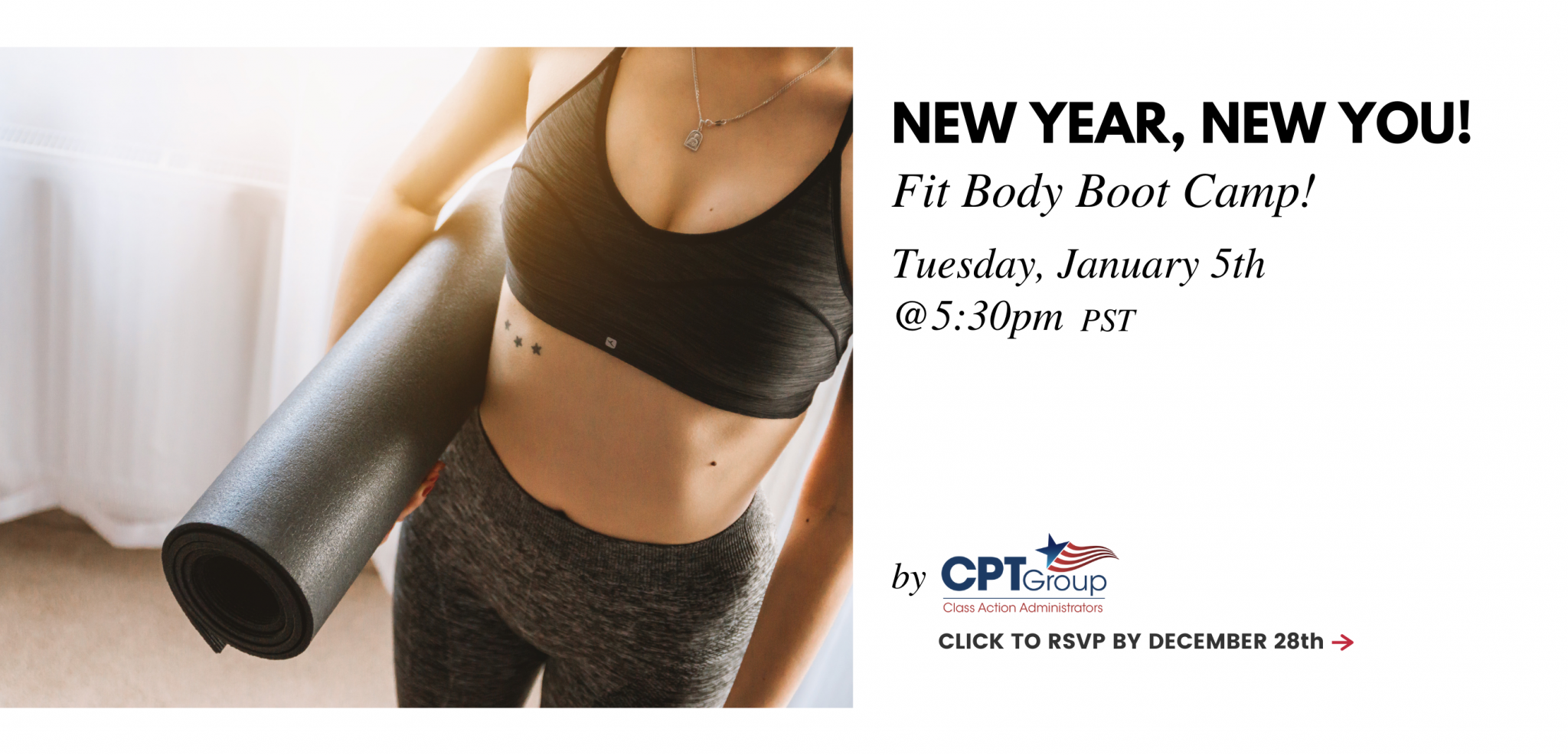 New Year, New You! Fit Body Boot Camp Tuesday, January 5th @ 5:30pm PST