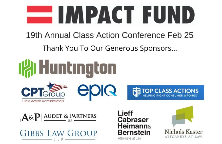 19th Annual Class Action Conference Hosted by Impact Fund, Feb 2, from 9am-4pm (PST)